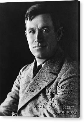 Autographed Art Canvas Print - Will Rogers by H. Armstrong Roberts/ClassicStock