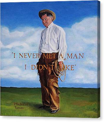 Will Rogers Canvas Print by Michael Lewis