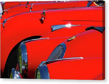 Canvas Print featuring the photograph Will The Owner Of The Red Car by John Schneider