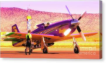 Will Whiteside And P-51 Mustang 'voodoo' Canvas Print