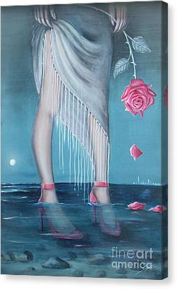 Canvas Print featuring the painting Will You Be My Valentine by S G