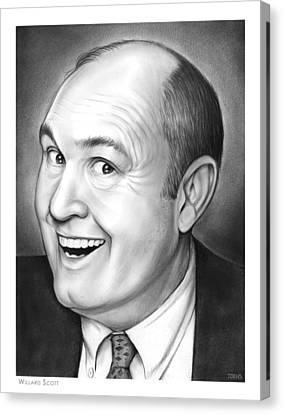 Willard Scott Canvas Print by Greg Joens