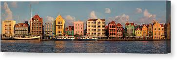 Willemstad Curacao Panoramic Canvas Print by Adam Romanowicz