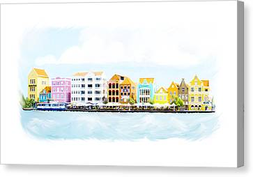 Willemstad Curacao Skyline Canvas Print
