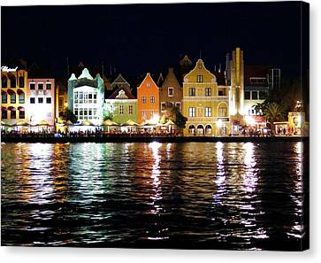 Canvas Print featuring the photograph Willemstad, Island Of Curacoa by Kurt Van Wagner