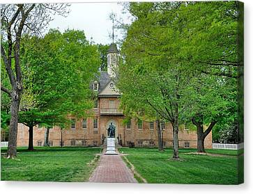William And Mary Canvas Print - William And Mary by Todd Hostetter
