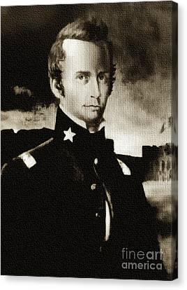 William B Travis - The Alamo Canvas Print
