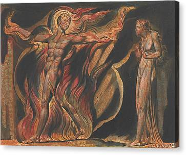 Jerusalem, Plate 26, Such Visions Have.... Canvas Print by William Blake