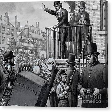 William Booth Preaching In The Open Air Canvas Print