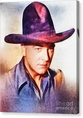William Boyd, Vintage Hollywood Actor Canvas Print by John Springfield