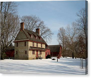 William Brinton House 1704 Canvas Print by Gordon Beck
