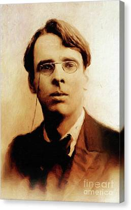 William Butler Yeats, Literary Legend By Mary Bassett Canvas Print by Mary Bassett