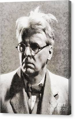 William Butler Yeats, Literary Legend Canvas Print by John Springfield