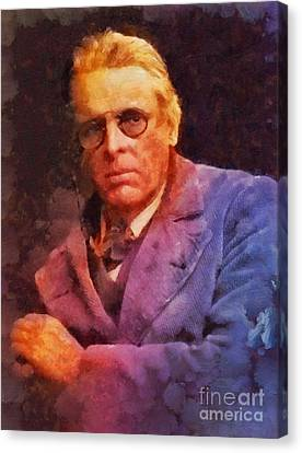 William Butler Yeats, Literary Legend Canvas Print by Sarah Kirk