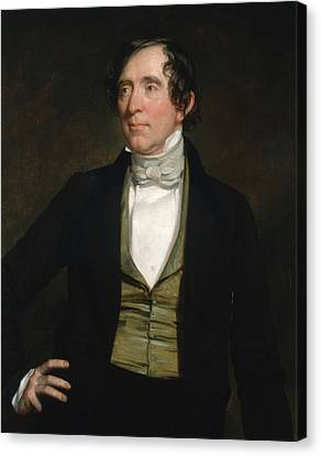 William C. Preston Canvas Print by George Peter Alexander Healy
