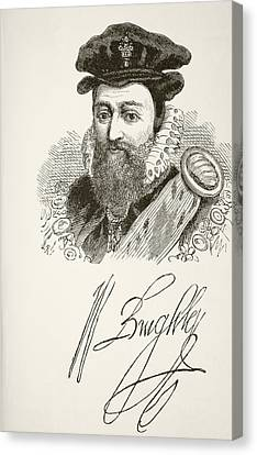 William Cecil, 1st Baron Burghley 1520 Canvas Print by Vintage Design Pics