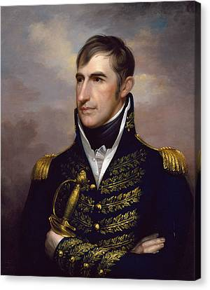 William Henry Harrison Canvas Print by Rembrandt Peale