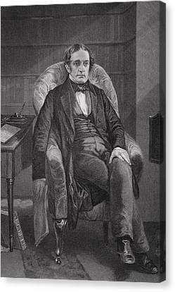 William Hickling Prescott 1796 To 1859 Canvas Print by Vintage Design Pics