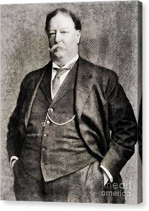 William Howard Taft, President Of The United States By John Springfield Canvas Print