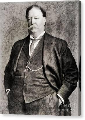 Taft Canvas Print - William Howard Taft, President Of The United States By John Springfield by John Springfield