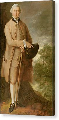 William Johnstone Pulteney Canvas Print by Thomas Gainsborough