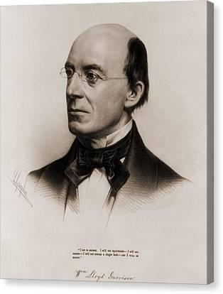 Antislavery Canvas Print - William Lloyd Garrison 1805-1879 Joined by Everett