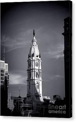 William Penn Above Philadelphia City Hall Canvas Print by Olivier Le Queinec
