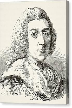 William Pitt The Elder 1st Earl Of Canvas Print by Vintage Design Pics