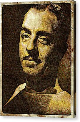 William Powell Hollywood Actor Canvas Print by Esoterica Art Agency