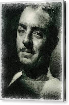 William Powell Hollywood Actor Canvas Print by Frank Falcon