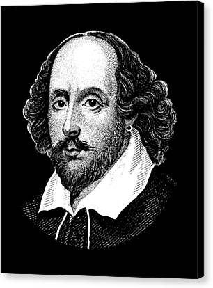 William Shakespeare - The Bard  Canvas Print by War Is Hell Store