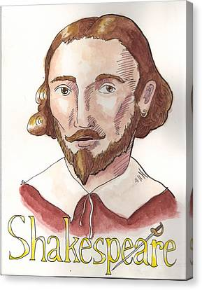 William Shakespeare Canvas Print by Whitney Morton