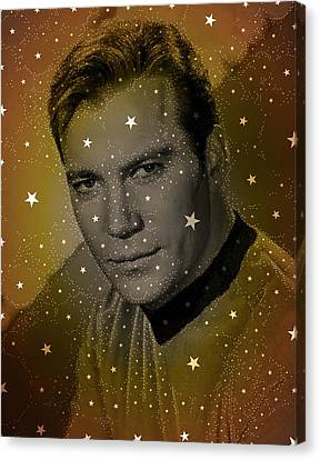 William Shatner As Captain Kirk Canvas Print by John Springfield