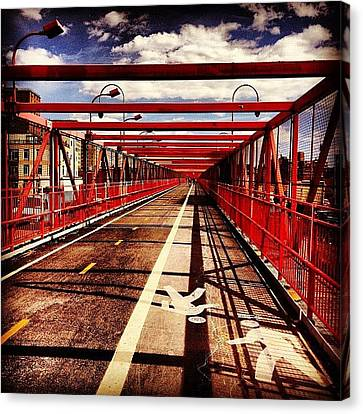 Williamsburg Bridge - New York City Canvas Print by Vivienne Gucwa