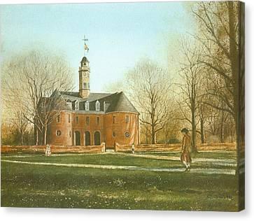 Williamsburg Canvas Print - Williamsburg Capital by Charles Roy Smith
