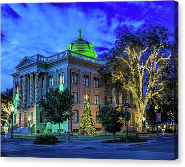 Williamson County Courthouse At Christmas Canvas Print