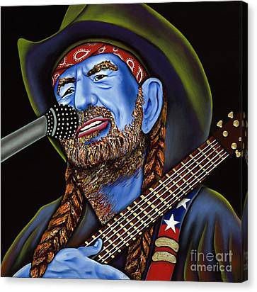 Willie Canvas Print by Nannette Harris