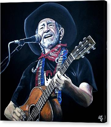 Willie Nelson 2 Canvas Print