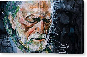 Willie Nelson 7 Canvas Print by Laur Iduc