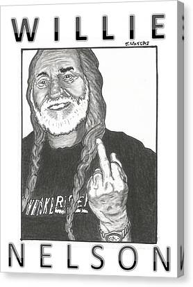 Willie Nelson Canvas Print by Jeremy Waters