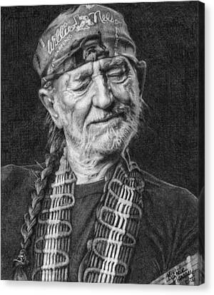 Willie Nelson Canvas Print by Michelle Flanagan