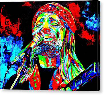 Willie Nelson Canvas Print by Mike OBrien