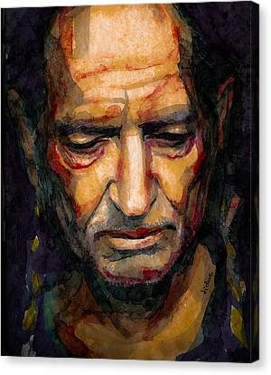 Willie Nelson Portrait 2 Canvas Print by Laur Iduc