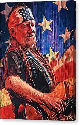 Willie Nelson Canvas Print by Taylan Apukovska