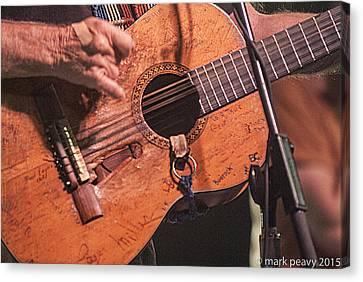 Willie's Guitar Canvas Print