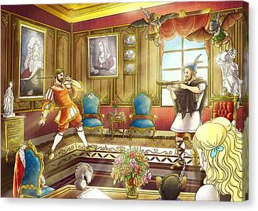 William Tell And Duke Leopold I Canvas Print