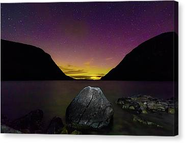 Willoughby Aurora And Boulder Canvas Print