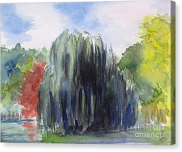 Willow Tree -2  Hidden Lake Gardens -tipton Michigan Canvas Print