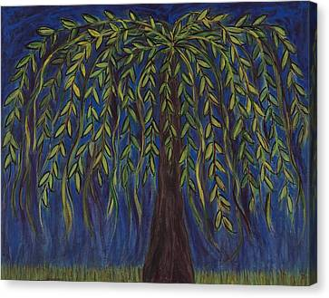 Willow Tree Canvas Print by Kristen Fagan