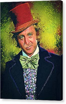 Willy Wonka Canvas Print by Taylan Apukovska